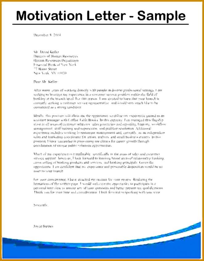 5 Motivation Letter for A Scholarship Example   FabTemplatez
