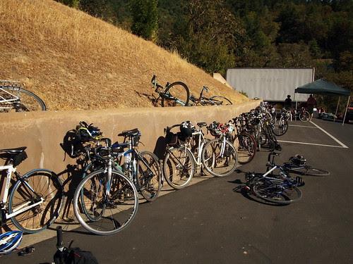 Bikes at the destination