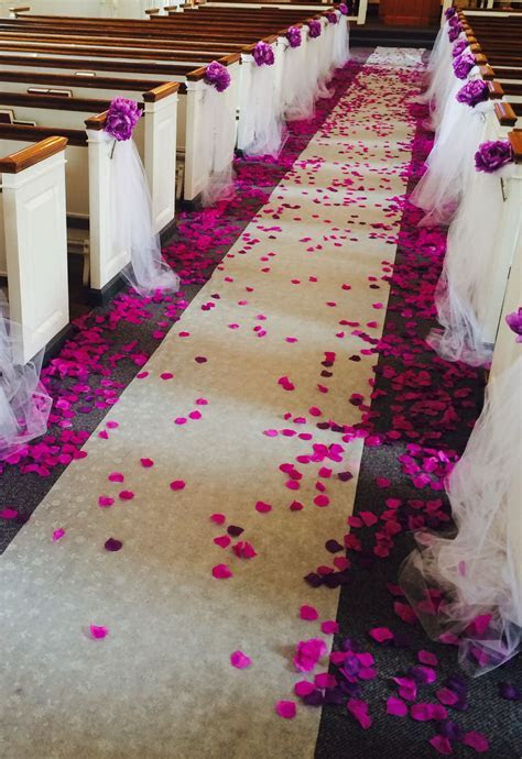Church Decoration for Wedding   My Pins   Wedding aisle