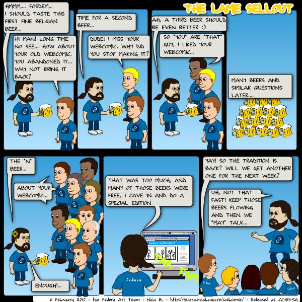 feedora webcomic: sellout