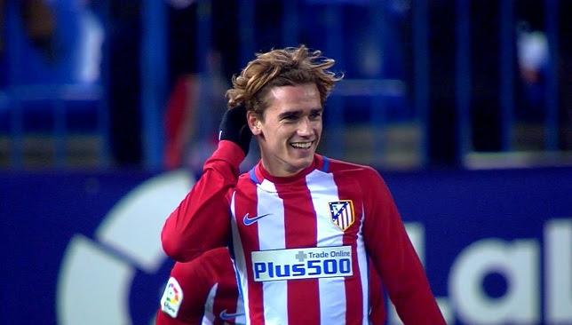 أنطوان جريزمان لاعب فريق أتلتيكو مدريد الإسباني