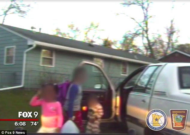 Passengers: Also in the car were the boy's foster siblings -a three-year-old boy and a five-year-old girl