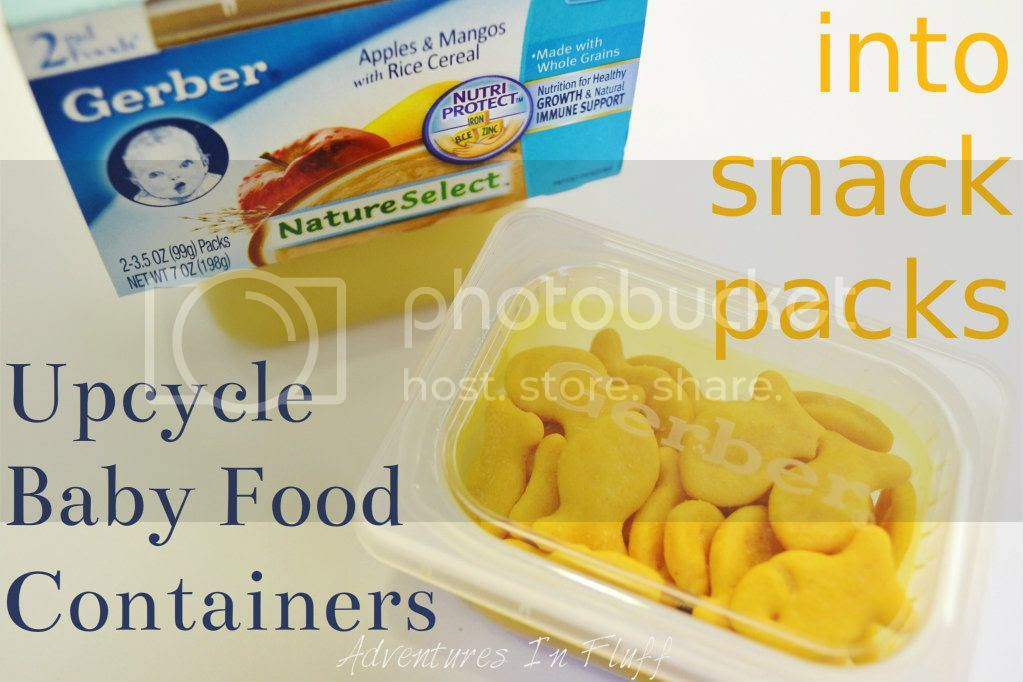 Upcycle a Platic Baby Food Container into a Snack Pack