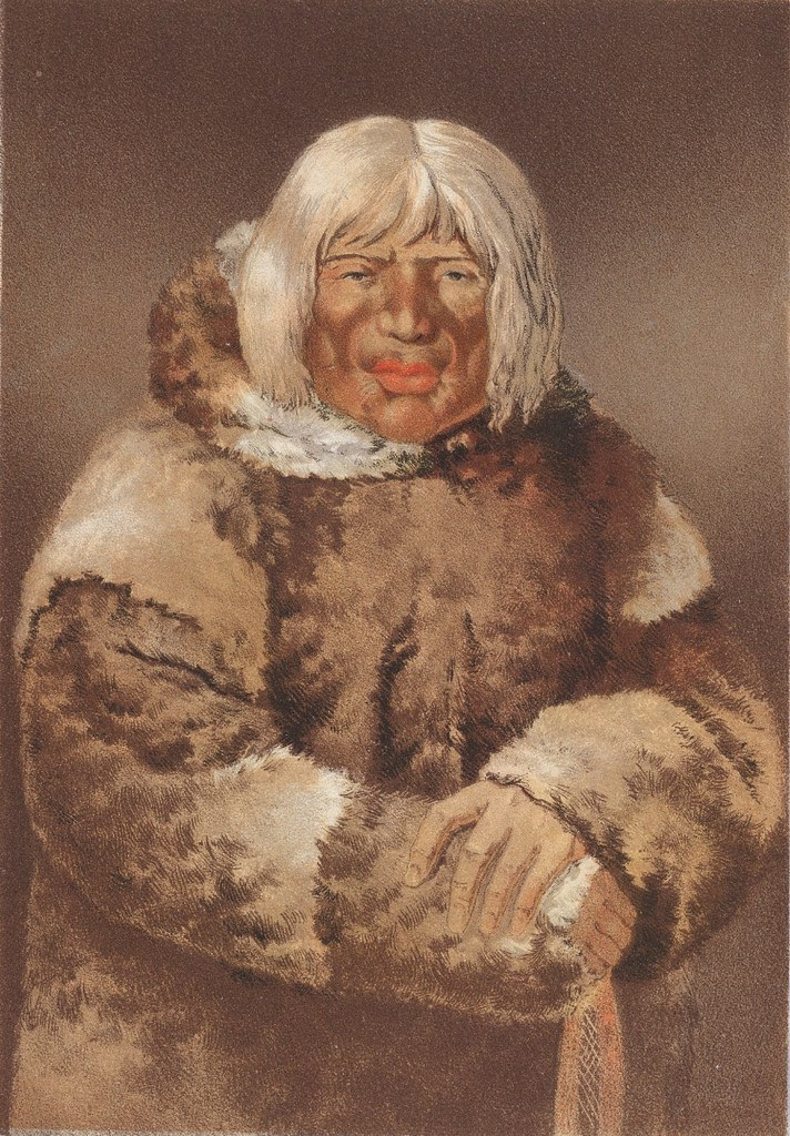 Portrait of an Eskimo - first people illustration