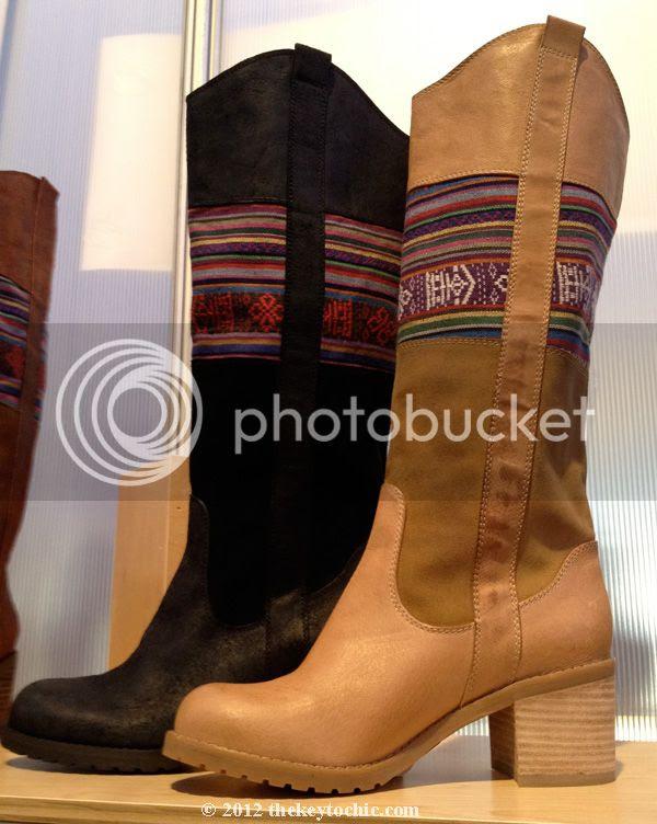 Seychelles fabric Southwestern knee boots