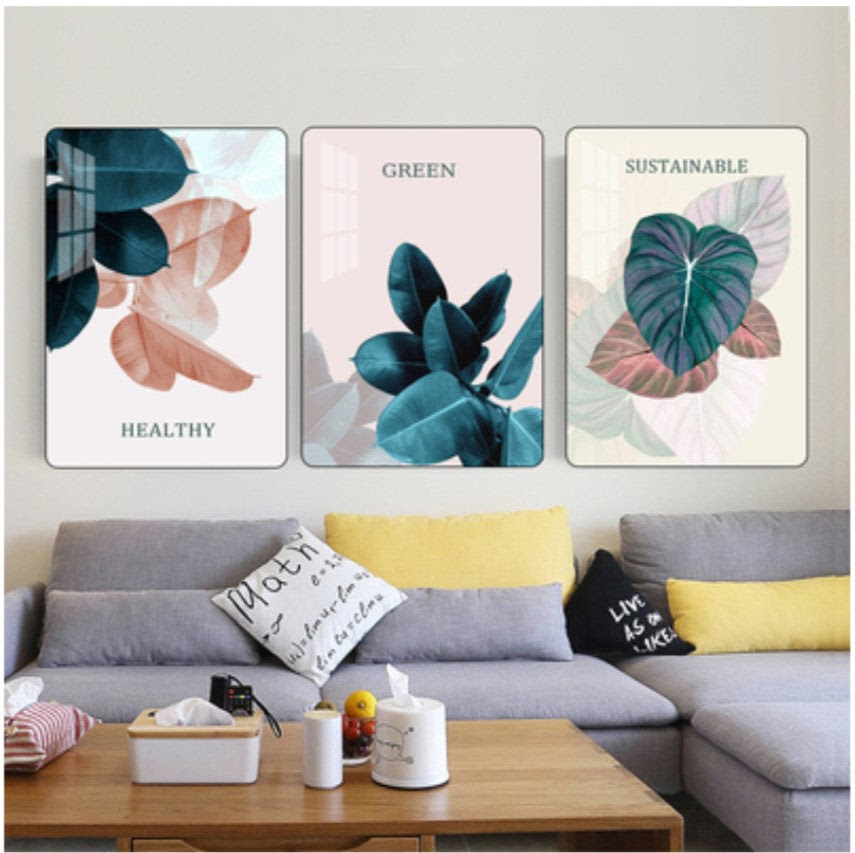 Nordic A8 Living Room Decoration Painting Modern Minimalist Free Punch Homebelieve