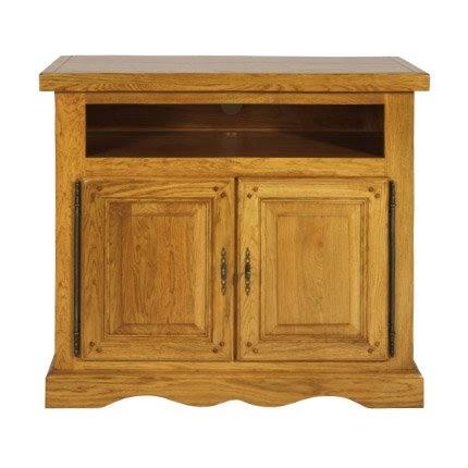 meubles tv meuble tv plateau pivotant ch ne moyen. Black Bedroom Furniture Sets. Home Design Ideas