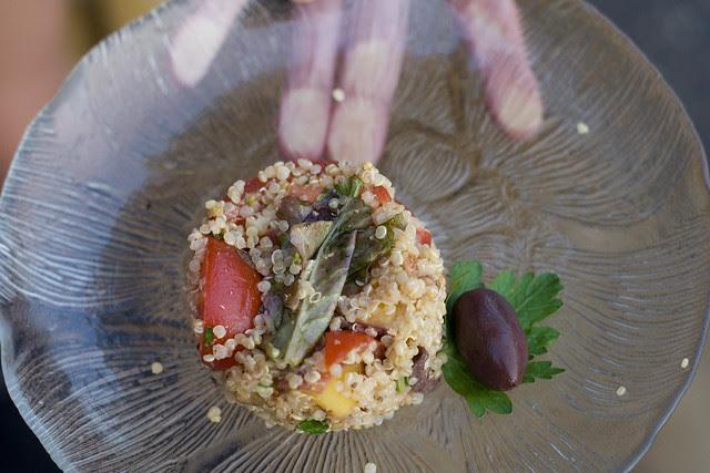 quinoa & campari tomatoes