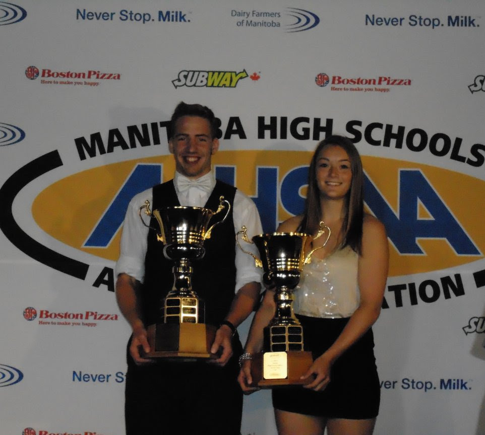 The 2018 Overall Manitoba Male And Female Jostens High School Athletes Of Year Are Olivia Thorleifson Nellie Mcclung Collegiate Theo Farough