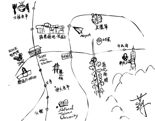 台北抽象地圖