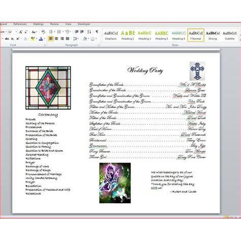 How to Write a Wedding Program Using Microsoft Word