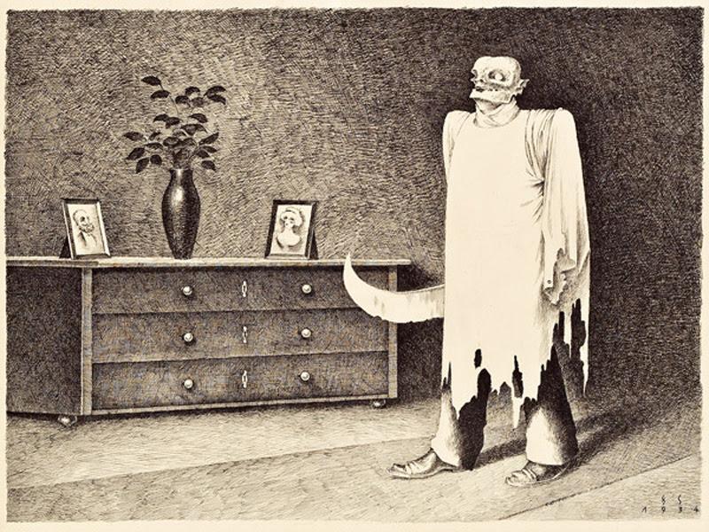 Franz Sedlacek - Ghost With Butcher Knife, 1934