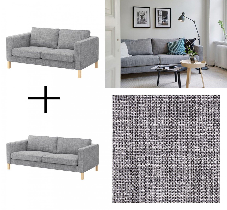 King Sofa Ikea Karlstad 3 Seater