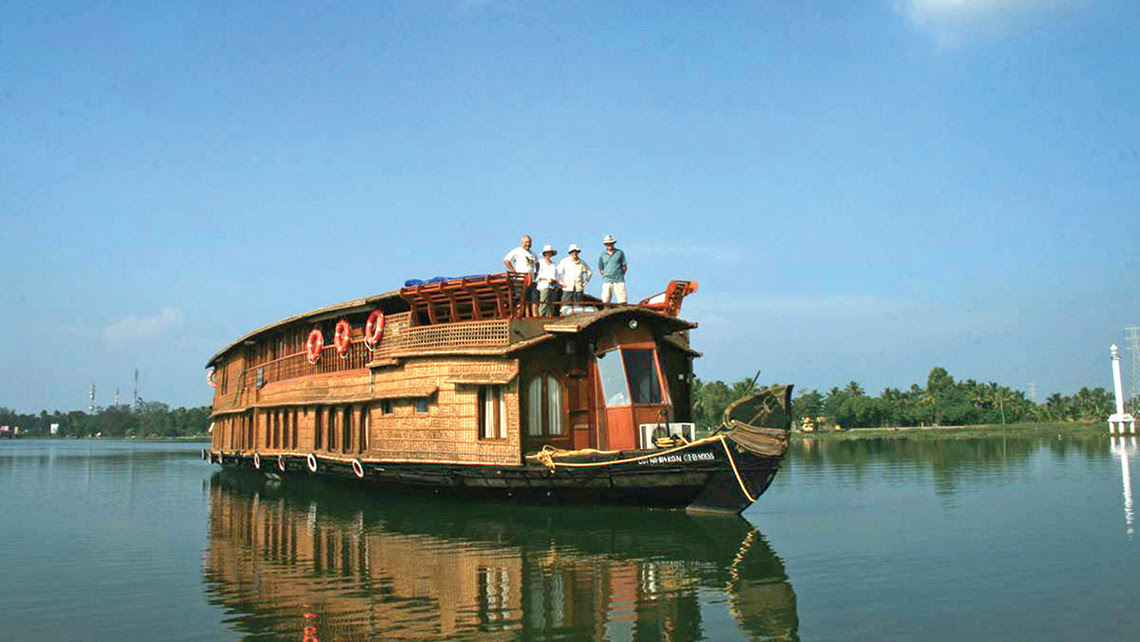 Pandaw's new seven-day itinerary in southern India's Kerala region includes a three-night cruise aboard the 18-passenger Vaikundam.