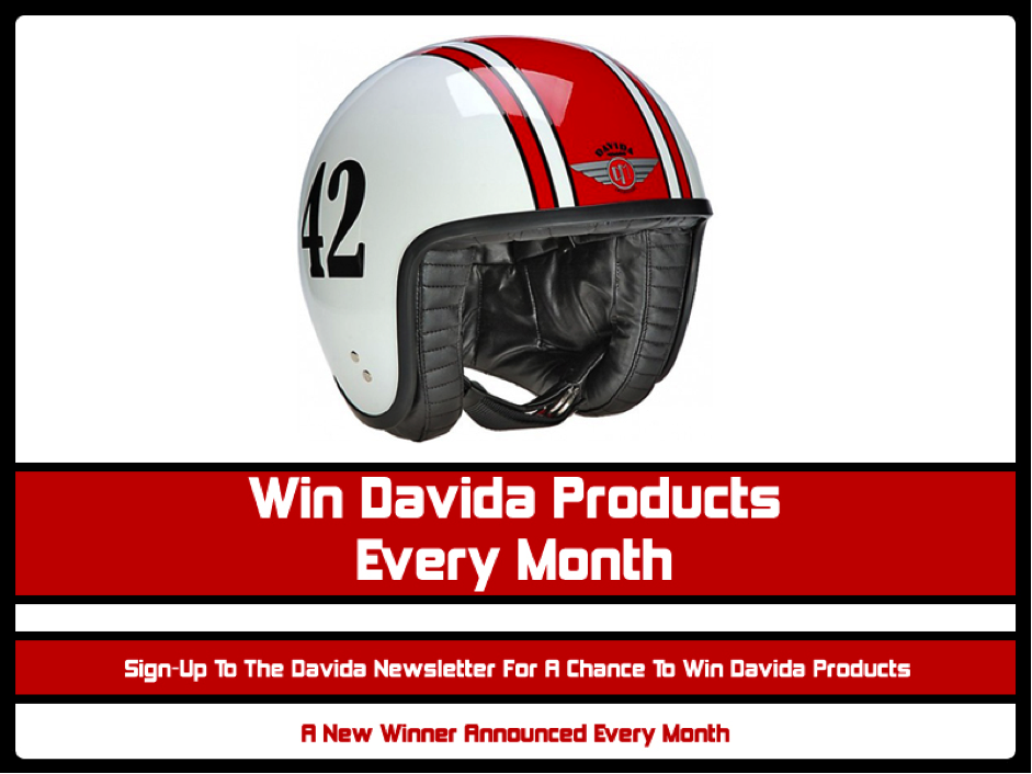 Sign-Up To the Davida Newsletter for a Chance to Win Davida Products Every Month