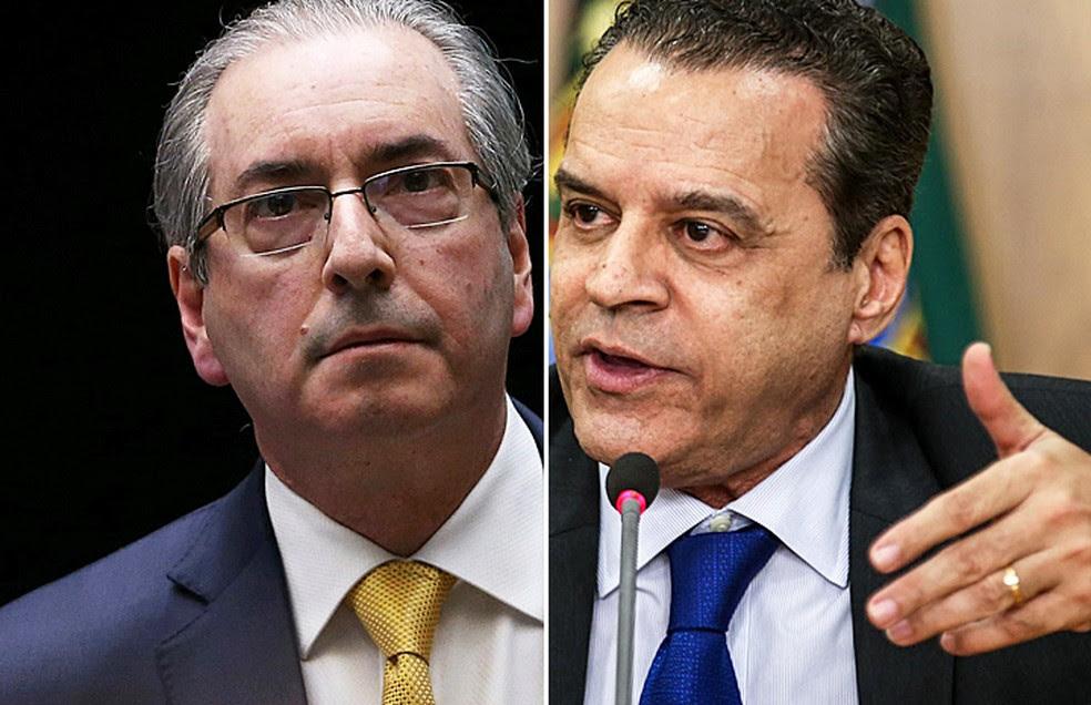 Eduardo Cunha e Henrique Eduardo Alves são alvos da Operação Manus, que investiga irregularidades na construção de estádio (Foto: Adriano Machado/Reuters e Fabio Rodrigues Pozzebom/Arquivo Agência Brasil)