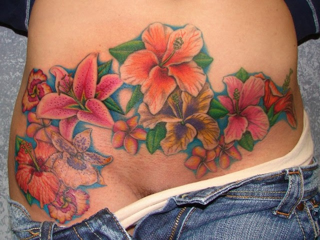 Stomach Tattoos To Cover Stretch Marks