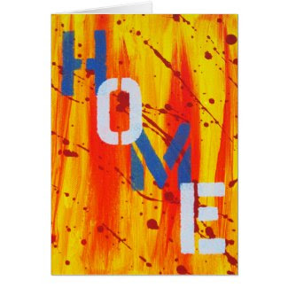 Graffiti Home Card