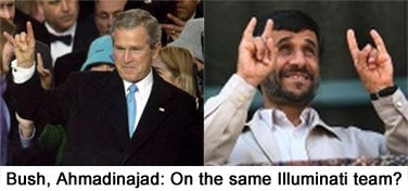 Bush, Ahmadinejad: On the same Illuminati Team?