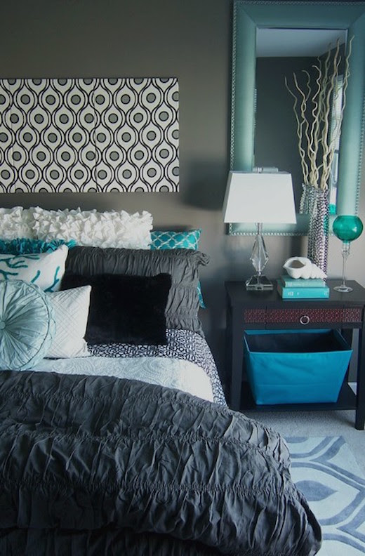 21 Breathtaking Turquoise Bedroom Ideas - The WoW Style