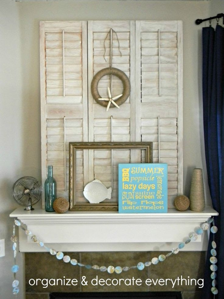 Beachy Mantel - Organize and Decorate Everything