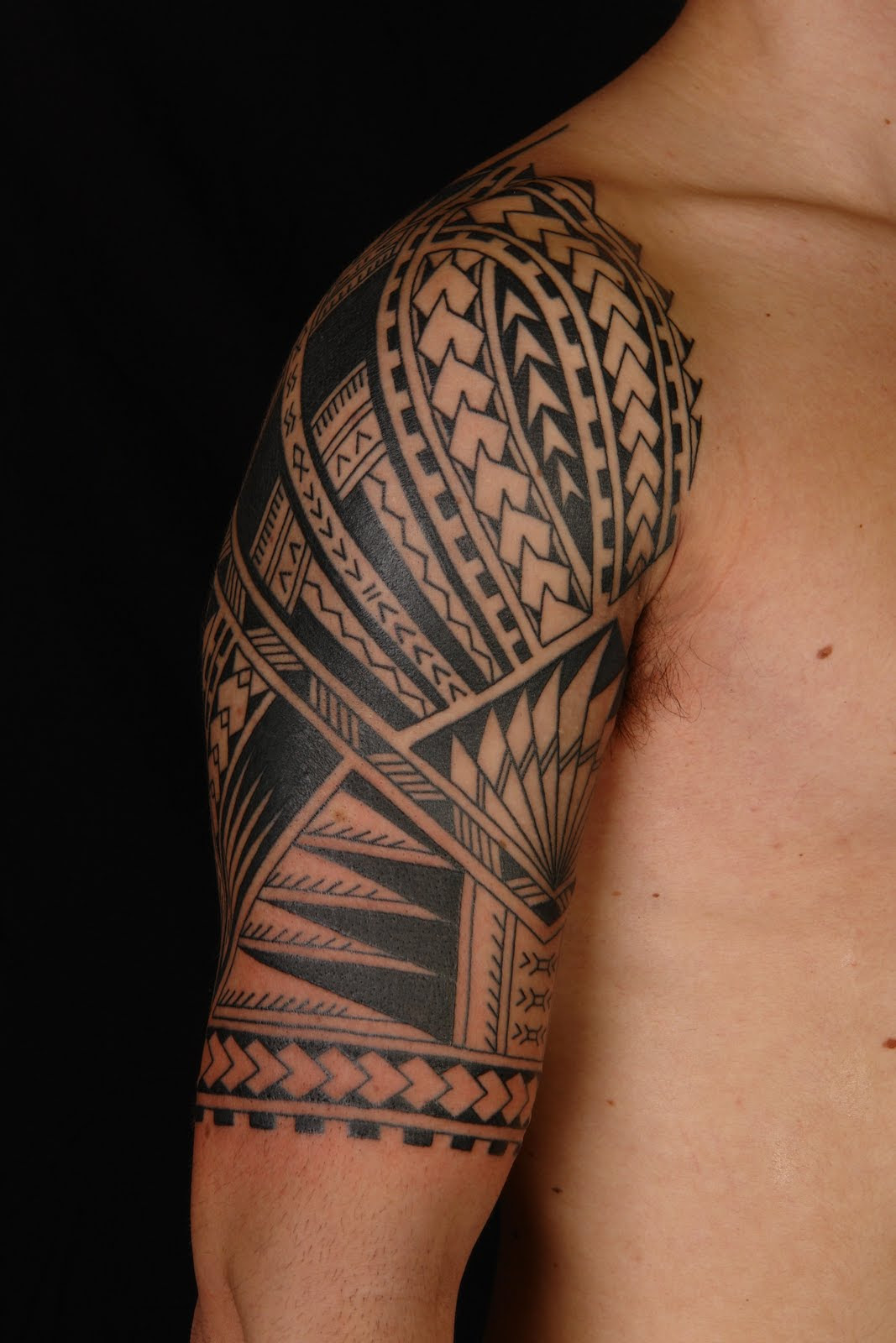 Maori Polynesian Half Sleeve Tattoo Ideas