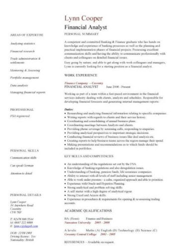 Resume Sample Livecareer Financial Cv Template Business Administration