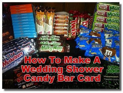 Wedding Shower Candy Bar Card