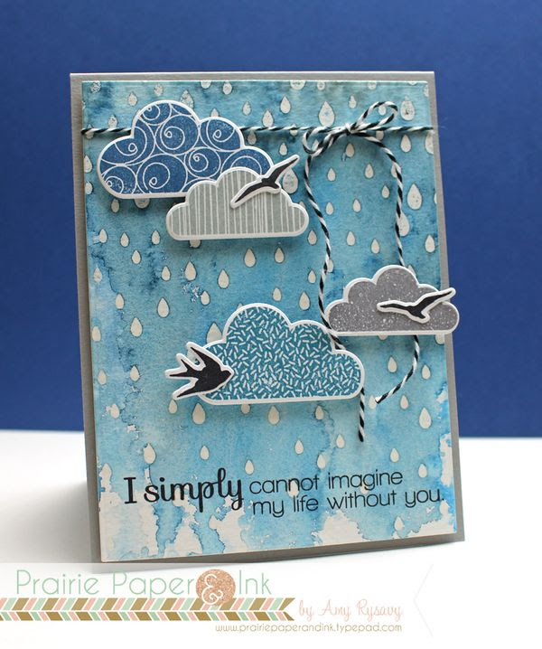 Prairie Paper & Ink: SSS Cloudy Sky Card | Mijello Mission ...