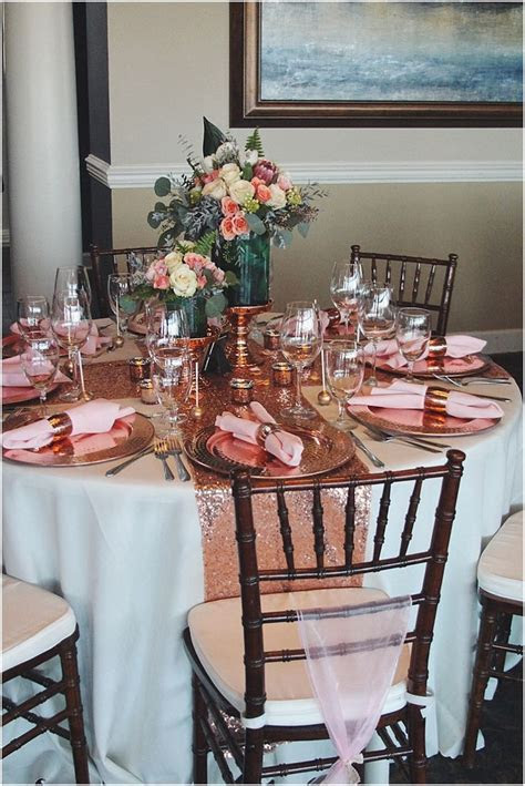 Best 25  Rose gold centerpiece ideas on Pinterest   Rose
