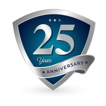25th Anniversary PNG Images   Vector and PSD Files   Free
