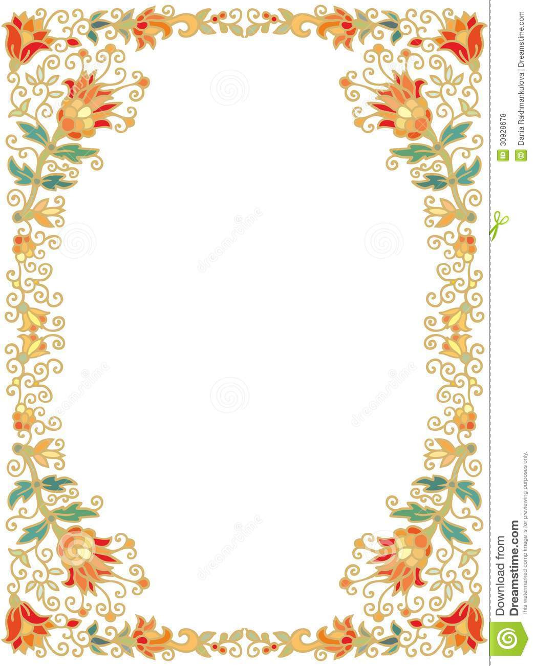 Flower Border Designs For Paper Underfontanacountryinncom