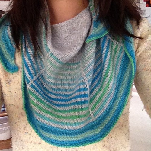 Daybreak is blocked and finished! Cheery colors for a gray day :)