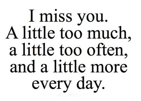 Sweet I Miss You More Than Quotes