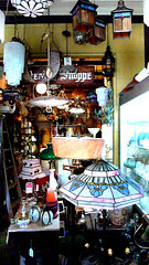 lamps at ray ferra's shop
