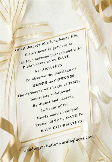 Fairytale Wedding Invitation Wording And Design