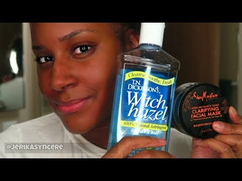 Skincare Routine ft African Black Soap & Witch Hazel ♥