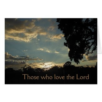 Condolence Card: Sunset, inspirational Greeting Card