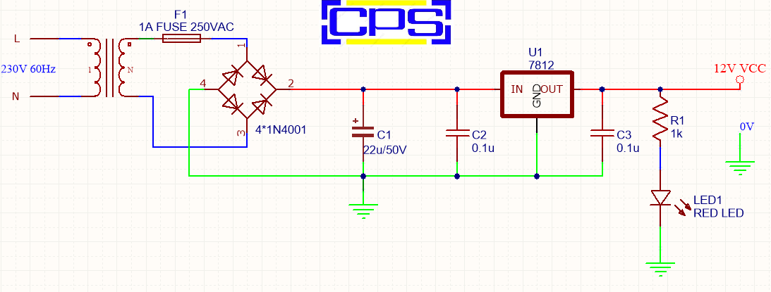 Designing Of Ac To Dc 12v 1a Power Supply Cps Embedded Solutions