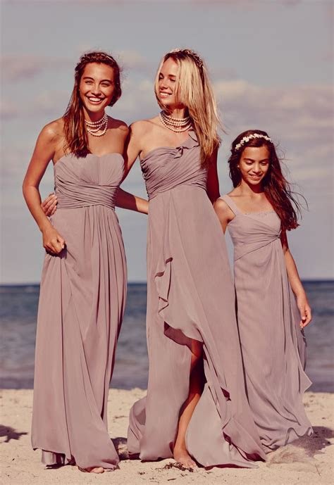 flowy bridesmaiddresses   neutral  quartz