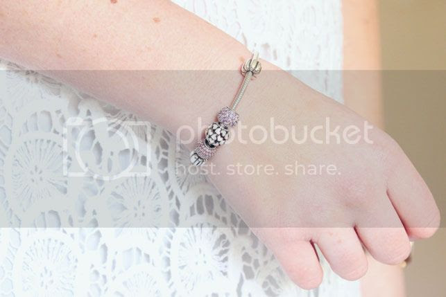 bandora bracelet pink charms
