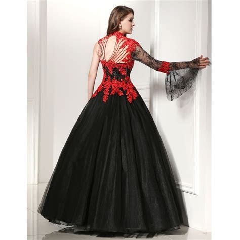 New Sweetheart Ball Gown Wedding Dresses Sweep Train Black