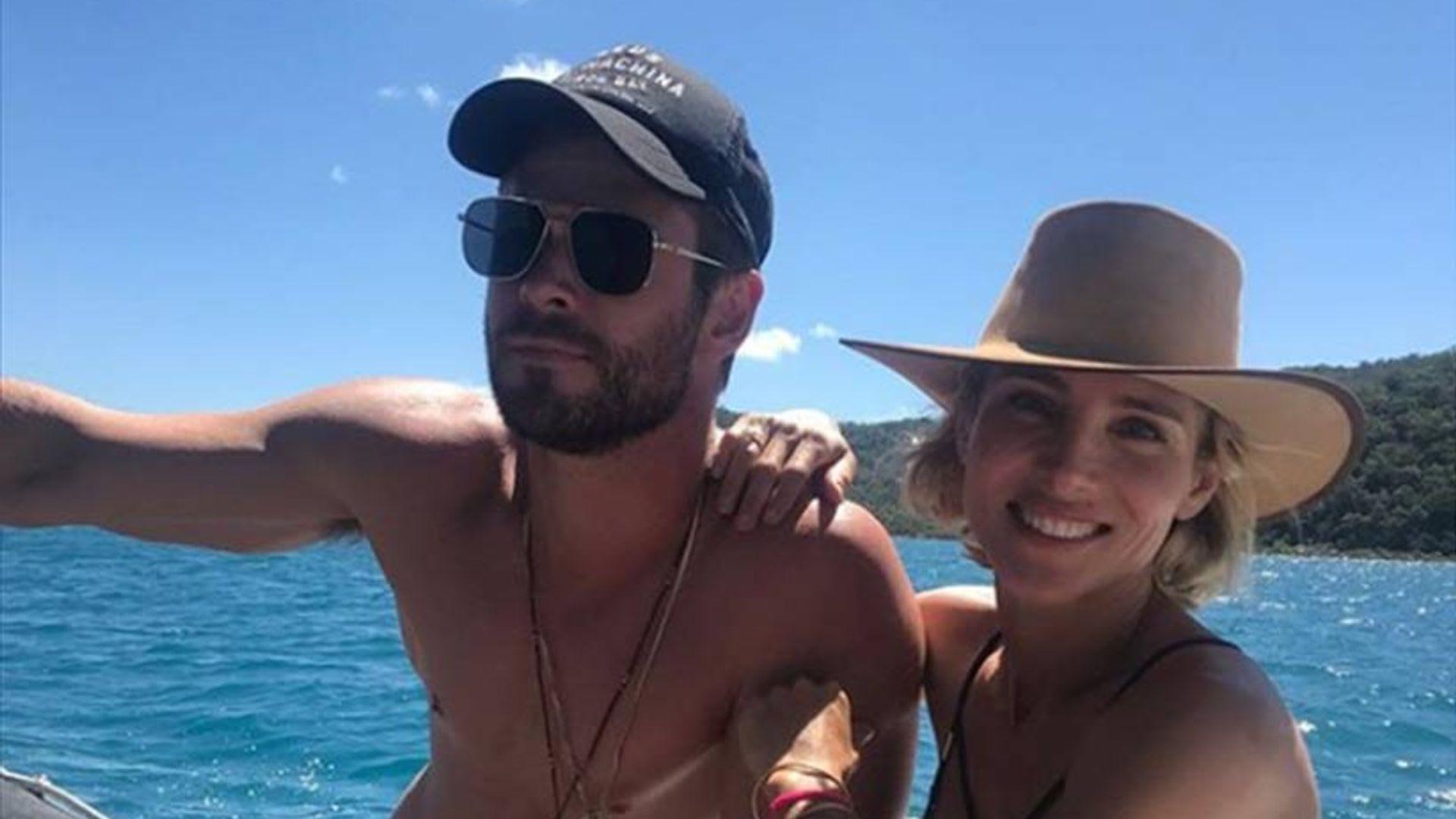 Chris Hemsworth and Elsa Pataky celebrate his birthday at ...