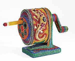 Pencil Sharpener - Beaded Sculpture - by Kathy Wegman and Tom Wegman