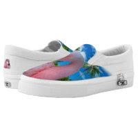 Pink Flamingo Zipz Slip On Sneakers, Printed Shoes