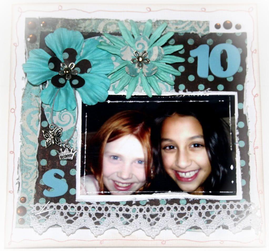 Fremsiden av kortet - mobilbilde tatt av jentene selv i november '08