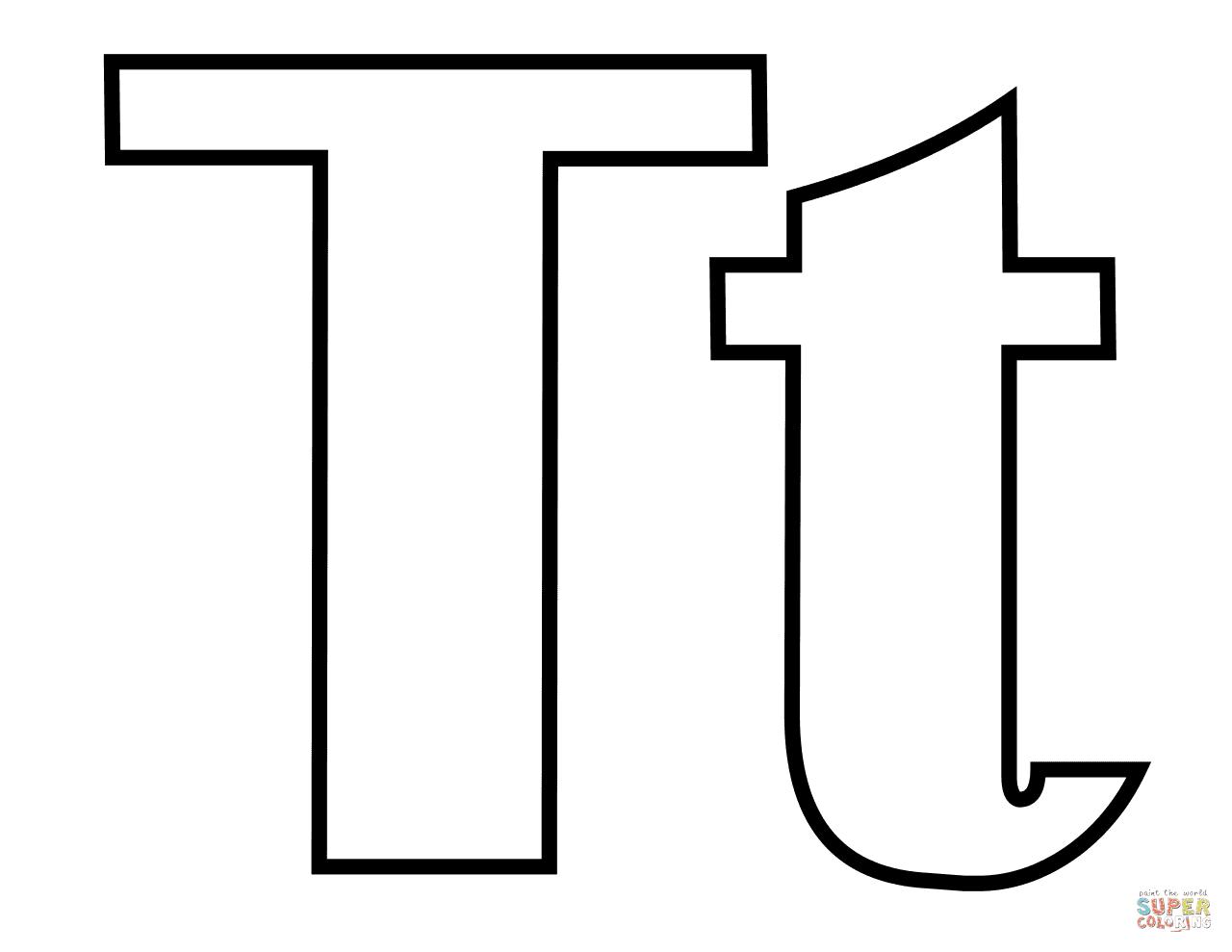 Dibujo De Letra T Para Colorear Dibujos Para Colorear