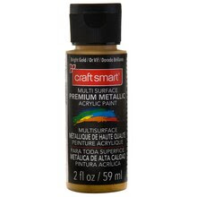 Craft Smart Multi-Surface Premium Metallic Acrylic Paint, Bright Gold