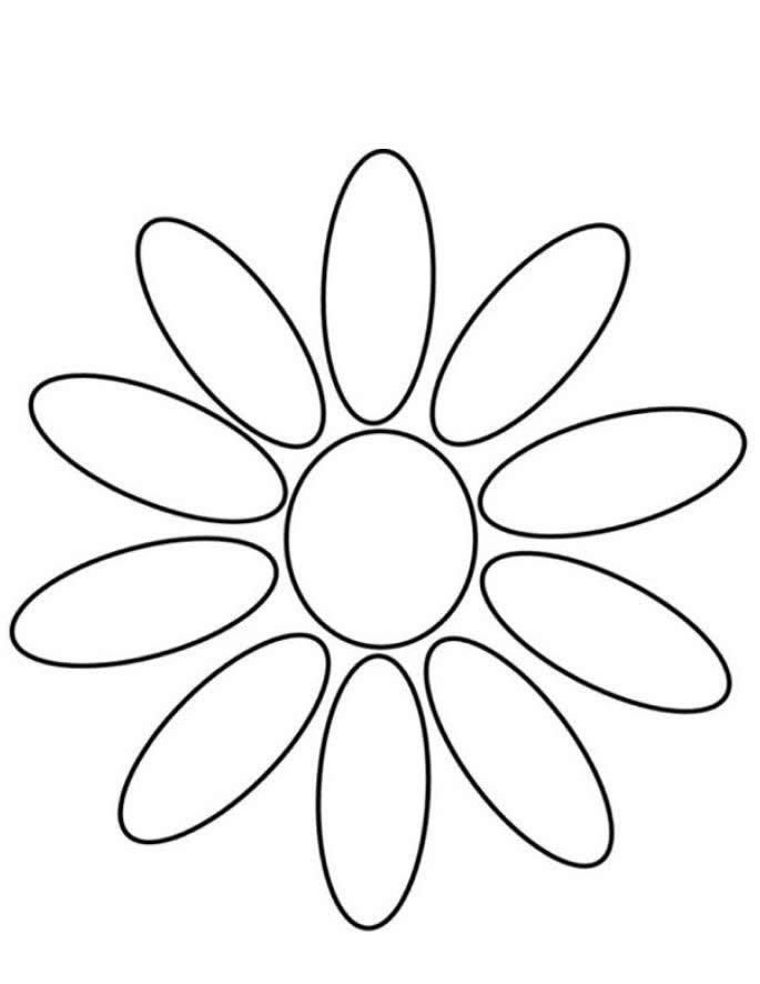 Petalos De Flores Para Colorear E Imprimir