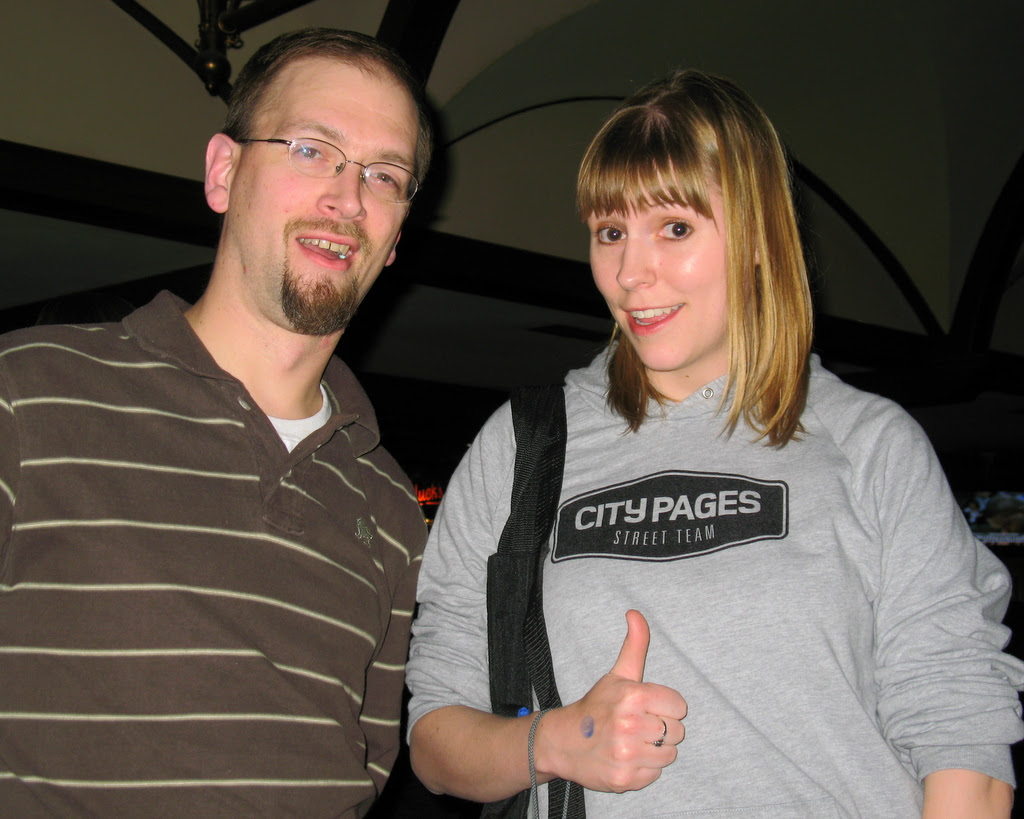 photo of the city pages street team member with the author of this blog